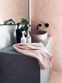 The Pill Basin is the contemporary remedy for your bathroom design. Sleek radius walls and a fine horizontal detail line make for a new standard in concrete refinement. Available in 14 stunning colours, and internationally delivered. Blush Bathroom, Bathroom Basin, Bathroom Colors, Bathroom Goals, Bathroom Vanities, Shabby Chic Cabinet, Concrete Basin, Terrazzo Tile, Concrete Furniture