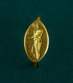 Ring with a Depiction of an Athlete-Apoxyomenos (after the sculpture by Lysippos) , 4th century BC. Ancient Greece