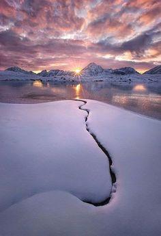 Winter sunrise..