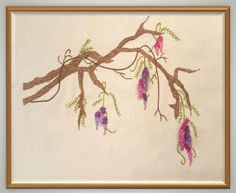 Wisteria Stumpwork & Embroidery Kit by WindyWillows444 on Etsy