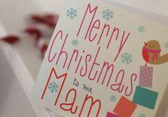 """Geordie Mugs Merry Christmas Mam www.wotmalike.co.uk £2.20 Free Postage """"Merry Christmas Mam Geordie Christmas Card""""  MADE IN UK! www.wotmalike.co.uk creators of Geordie Gifts and Cards4Geordies and folk from all around Tyneside."""