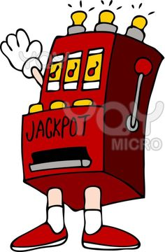 Playing Slot Machine Clip Art Co-Workers