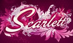 """Scarlett  An illustration created by Nik Ainley. Notice how well every single letter (e.g. """"l"""" and """"s"""") fits in the composition."""