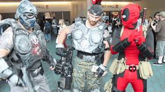 Funny Deadpool vs Comic con 2013 gif set - Imgur Did I ever mention my love for Deadpool