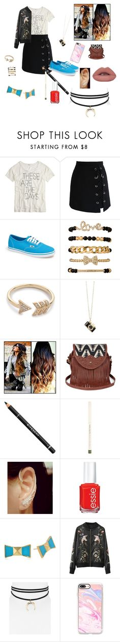 """Outfit for "" Love the Rejected"" on Wattpad"" by micaj on Polyvore featuring J.Crew, Chicwish, Vans, EF Collection, Sole Society, Givenchy, Essie, Kate Spade, Jules Smith and Casetify"