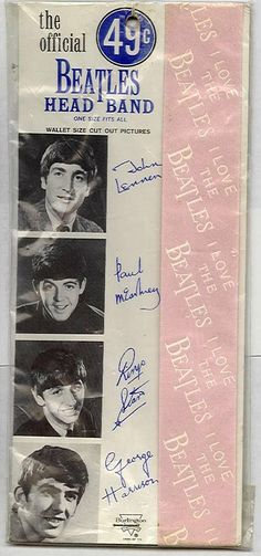 There were Beatle head bands and hair bows. In 1964, we'd never seen anything like this before.