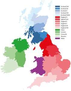 Britains DNA,Interactive distribution map of The British Isles