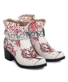 Look what I found on #zulily! Red & Black Blossom Bootie #zulilyfinds