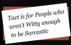 tact/sarcasm
