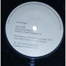 """7"""" 45RPM Introducing Radios/Distance Fades Between Us/Progress/Once When I Was Six by Orchestral Manoeuvres In The Dark by Dindisc (DEP2)"""