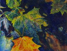Among Autumn Leaves shows the textures of leaves that have fallen to the ground.