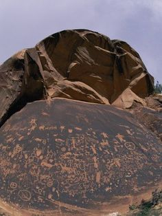 Petroglyphs in the Canyonlands National Park in Utah. Symbols of the Navajo, Anasazi and other local tribes