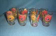 Chance Glass Made in England Anemone Juice Glasses (8)