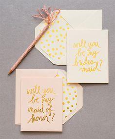 Modern blush pink and gold polka dots wedding stationery #blushpink #blushpinkwedding #wedding #polkadot #weddingstationery