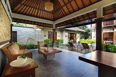 Book Tis Villas Seminyak with Cantik Bali Villas. Bali Architecture, Tropical Architecture, Contemporary Architecture, Balinese Villa, Balinese Interior, Roof Design, House Design, Resort Villa, Indochine