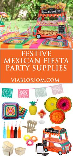 Must have Fiesta Party Supplies and decorations for a fabulous party! Perfect for cinco de mayo or a fiesta party!