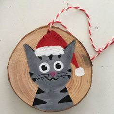 Custom Pet Ornament – Christmas Ornament – Cat Ornament – Dog Ornament – Animal Ornament – 37 super easy diy christmas crafts ideas for kidslaser cut ornament wooden christmas tree ideawhat do your christmas decorations say about you Painted Christmas Ornaments, Dog Ornaments, Wooden Ornaments, Hand Painted Ornaments, Christmas Mantles, Vintage Ornaments, Christmas Animals, Christmas Cats, Victorian Christmas