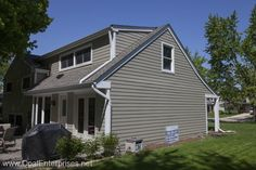 House in Naperville with Monterey Taupe James Hardie SIding