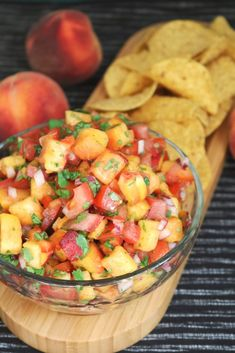 It's hard to beat fresh salsa, especially when it's made with ripe Georgia peaches! Serve it over your favorite grilled protein or scoop it up with tortilla chips. Peach Salsa, Fresh Salsa, Columbus Food, New Recipes, Healthy Recipes, Summer Recipes, Healthy Food, Jalapeno Salsa, Salsa Recipe