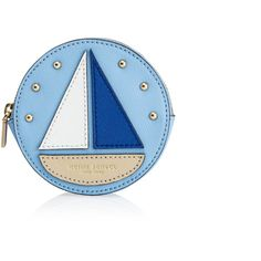 Henri Bendel West 57th Round Sailboat Coin Purse ($26) ❤ liked on Polyvore featuring bags, wallets, lt blue, zippered change purse, zip coin purse, coin purse, coin purse wallet and henri bendel