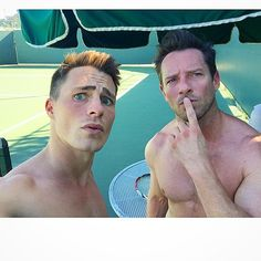 """so hot!!!  """"Well @ianbohen almost beat me this time...close but no cigar. #SunBurntBitch hahaha!"""""""
