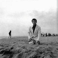 """Marcello Mastroianni in""""La Dolce Vita,"""" Federico Fellini, 1960. My favorite finale, ever."""