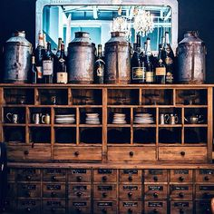 Storage that's full of character. The Bank and Pigeon Hole collections are designed to work separately as well as together. Drawing its inspiration from the shelving and display units used in banks of yore, when a visit to a savings facility meant a pleasant conversation with your personal banker. The solid wood pieces are made from reclaimed Chinese doors, rich in history. #furniture #reclaimedwood #homedecor #interiors #design #timothyoulton