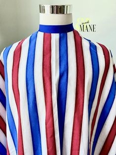 Barber Cape Hair Cutting Cape Barber Pole Stripes Styling | Etsy Custom Capes, Skulls And Roses, Coordinating Colors, Fun Prints, Red White Blue, Salons, Delicate, Stripes, Barbershop