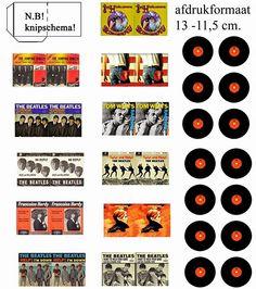 All about dollhouses and miniatures: Imprimibles de discos y carátulas