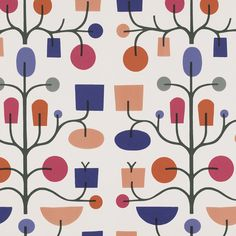 Fruit Tree, Crimson and Violet, by Alexander Girard for Maharam.