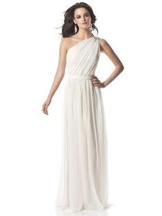 #Grecian one shoulder #wedding #dress