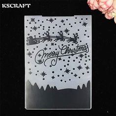 scrapbook embossing NEW Brass Stencil card making SNOWMAN Face