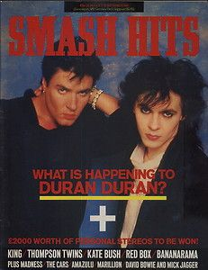 This is a site that has issues of Smash Hits so people can read the magazines. Starting from 1978 and ending in 1989 I will be putting up each issue for all the world to see. Jim Kerr, Boys On Film, Billy Ocean, Thompson Twins, Frankie Goes To Hollywood, Nick Rhodes, Simon Le Bon, Tears For Fears, Music Magazines