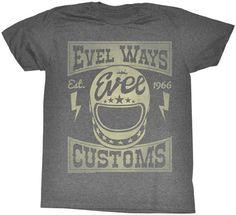 Deadbeat Customs - Evel Knievel American Classics - Evel Ways T - Shirt, $24.95 (http://www.deadbeatcustoms.com/evel-knievel-american-classics-evel-ways-t-shirt/)