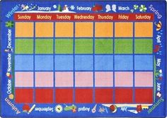 Celebrations Calendar Classroom Rug