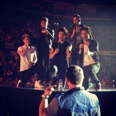 The boys singing Happy Birthday to Paul!