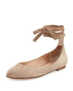 Update your footwear collection with the shoe style that will never go out of style: nude ballet flats. Shop our favorites here.
