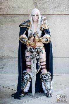 The female version of Arthas - The Lich King from World of Warcraft.  She did an awesome job! via http://gilscosplayfavs.tumblr.com/image/44463326049