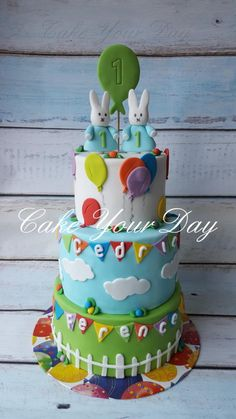 Twins Miffy cake - Cake by Cake Your Day (Susana van Welbergen)