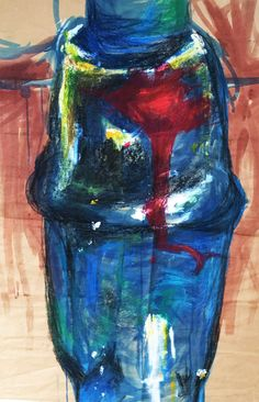 staurated tap close up - mixed media - ink water colour acrylic oil pastel charcoal pen pencil