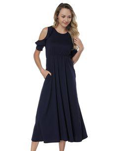 053248aa98b4 Maternity Fashion - hard-wearing maternity maxi dress : FLYCOOL Summer Boho  Women Long Maxi Evening Party Skirt Basic Beach Plus Size Dresses Black US  Size ...