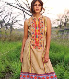 Orient Embroidered Lawn Kurti Collection 2015 OTL_108C