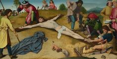 Bible In My Language / Gerard David, Christ Nailed To The Cross (About 1481)