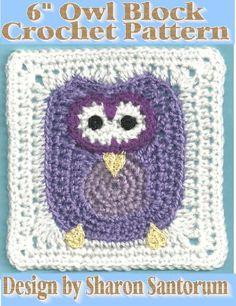 Owl Block Crochet Pattern Creeksendinc
