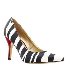 Take a look at this Rampage Zebra Nicki Pump on zulily today!