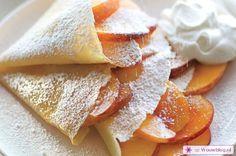 Pannenkoeken perzik slagroom