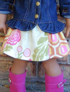 "Scrap Saver 18"" Doll Skirt: FREE Pattern"