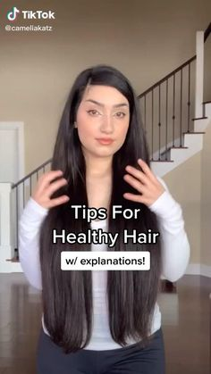 Hair Tips Video, Long Hair Tips, Hair Videos, Diy Hair Treatment, Natural Hair Treatments, Hair Up Styles, Natural Hair Styles, Hair Fall Control Tips, Hair Growing Tips