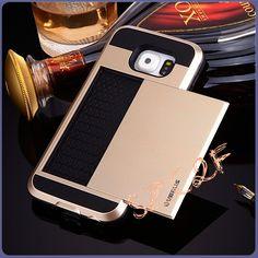 S6 G9200 Slider Slide Credit Card Holder Function Cover Armor Slim Hybrid Luxury Phone Bag Case For Samsung Galaxy S6 S 6 Funda