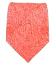 Twill Paisley - Coral || Ties - Wear Your Good Tie. Every Day - Twill Paisley - Coral Ties